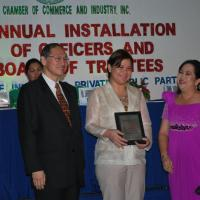MARIA LOURDES MONTEVERDE ---NEW PRESIDENT OF DAVAO CITY CHAMBER OF COMMERCE AND INDUSTRY, INC (DCCCII)