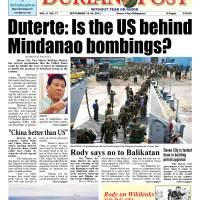 Duterte: Is the US behind Mindanao bombings?