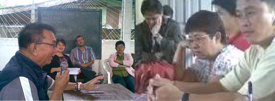 Barangay Captain Romeo Cabling with members of the Barangay Council