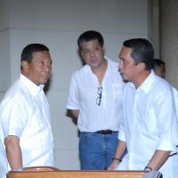 Anton Lagdameo, Jejomar Binay, Leo Magno in Davao City