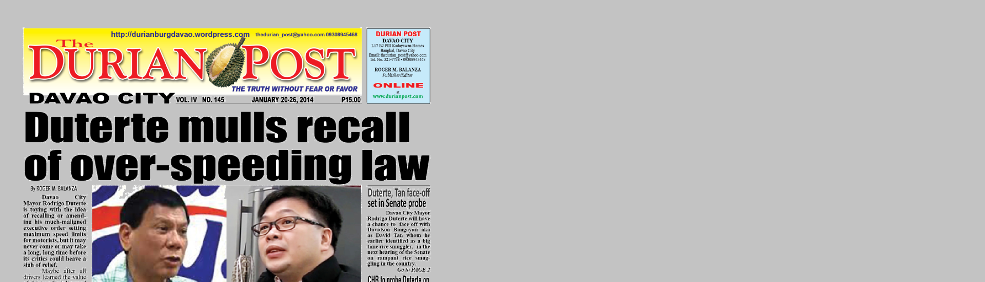durian headline