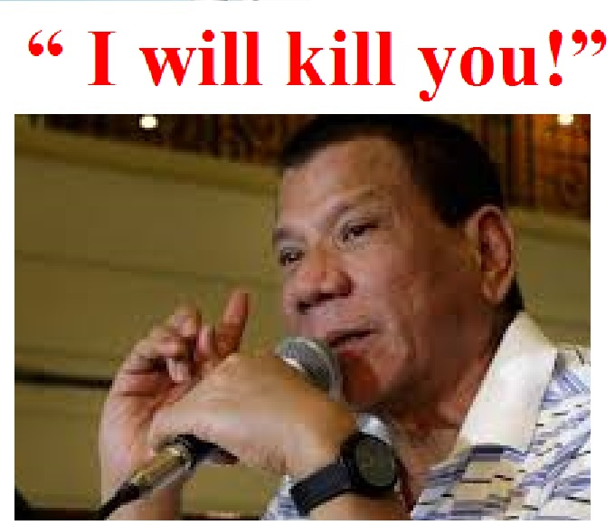 chr to probe duterte on i will kill you statement the durian
