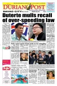 the durian post no. 145, front page