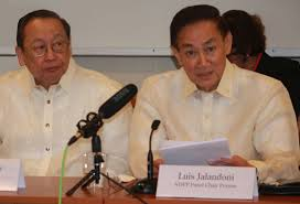 NDF founder Jose Maria Sison, left, and chairman Luis Jalandoni, who appointed Davao City Mayor Rodrigo Duterte as NDF consultant in peace talks with the Philippine government.,