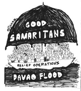 cartoon - good samaritans by rogerb.