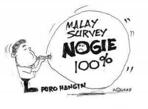 cartoon - malay nograles poll survey by rogerb