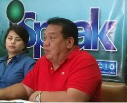 DAVAO CITY COUNCILOR Edgar Ibuyan, event director of the Indak-Indak sa Kadalanan, with city tourism officer Lisette marques, in a pre-Kadayawan press conference.