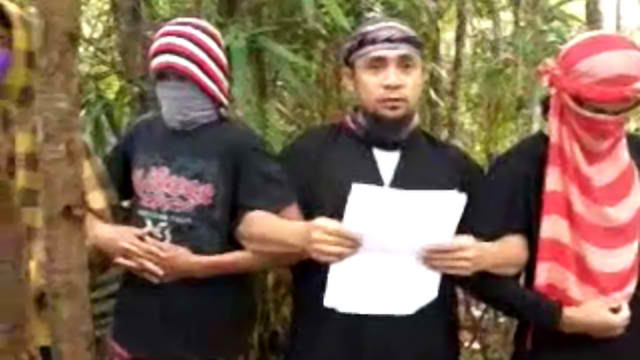 THE ABU SAYYAF GROUP whose senior leader Isnilon Hapilon has pledged  allegiance to ISIS, in video uploaded on YouTube.
