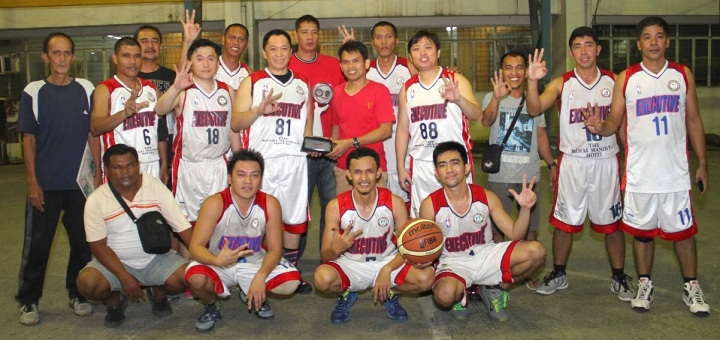 City Hall Executives are the 2014 IBP-CMO Basketball Tournament champions. Executives defeated IBP Davao, 80 - 77, in heart-stopping Game 2 encounter to complete sweep, 2 - 0, of their best of three championship series.