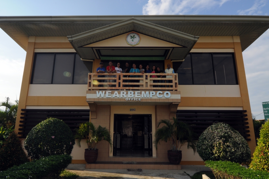 - WEARBEMPCO coop members enjoying their 2-story air-conditioned office building. --