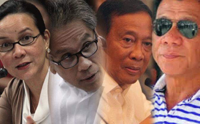 Grace-Poe-Mar-Roxas-Jejomar-Binay-Duterte