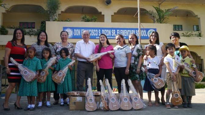 PBGEA  donates ukuleles to Davao City public school