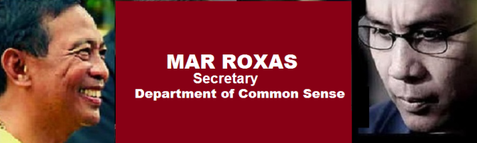 Binay to appoint Roxas as head of Department of Common Sense