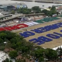 INC breaks world record for largest human sentence