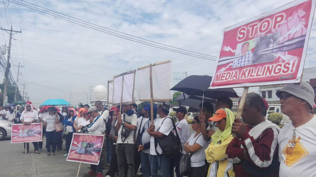 JOURNALISTS HOLD INDIGNATION RALLY VS. DENNIS DENORA KILLING