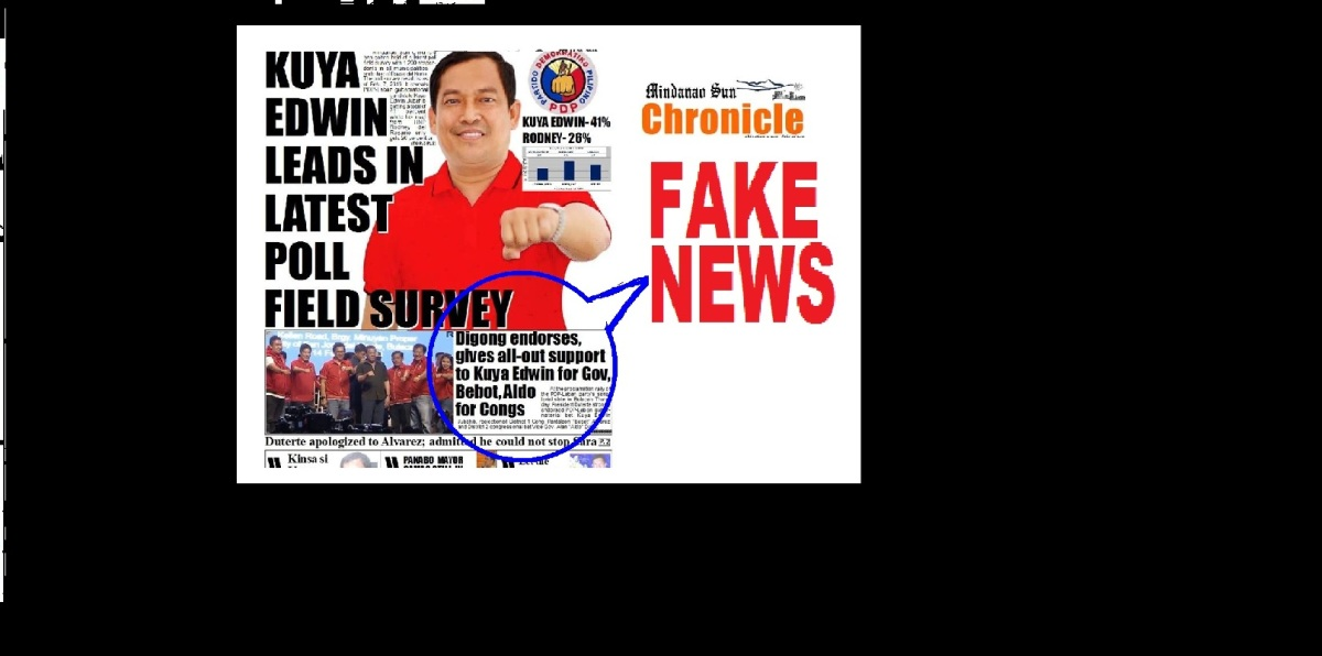 FAKE NEWS: Duterte endorses Alvarez by Mindanao Sun Chronicle