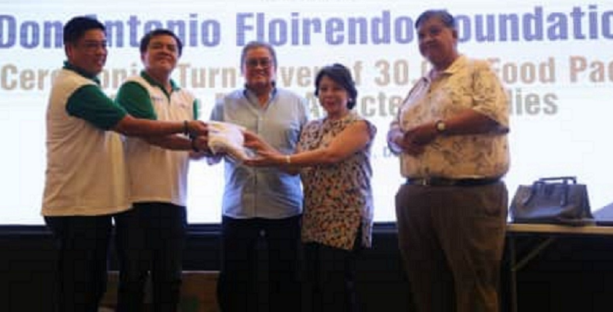 ANFLOCOR TURNED OVER 30,000 FOOD PACKS FOR DAVAO DEL NORTE FLOOD VICTIMS