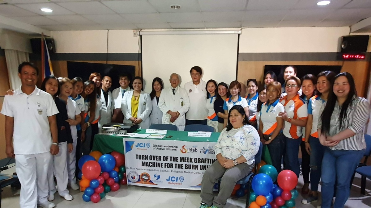 MINDANAOANS TO BENEFIT FROM FLOIRENDO'S DONATED BURN TREATMENT MACHINE
