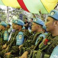 PEACE TALKS: GOVT BARRACKS FOR MORO ISLAMIC LIBERATION FRONT (MILF) FIGHTERS' FIREARMS READY FOR USE