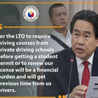 LTO TOLD: Suspend Circular on Mandatory Driving Courses from Private Driving Schools
