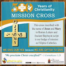 Mga resulta ng larawan para sa 500 Years Mission Cross.