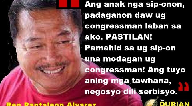 SIP-ONON!!! Pantaleon Alvarez on political rival in 2022
