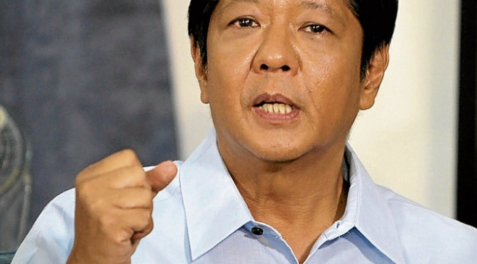 DICTATOR'S SON wants to be the next President of the Philippines
