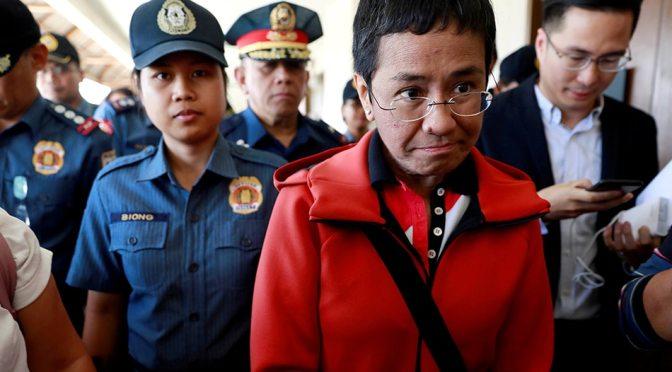 NOBEL PRIZE AWARDEE Maria Ressa blames Duterte gov't for her cyber libel rap