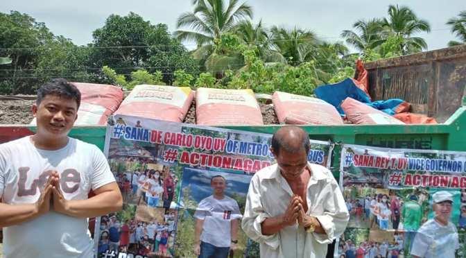 DAVAO DE NORTE: Rey Uy/Oyo Uy Action Agad – Church donations