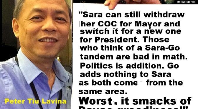PRESIDENT WANTS SARA-GO TANDEM? Is Duterte power greedy?